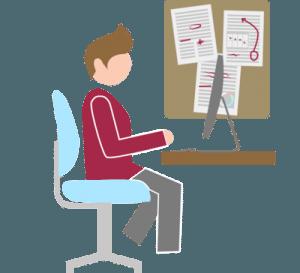 Editor at desk